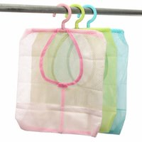bathroom clothes dryer - Kitchen Bathroom Hanging Mesh Storage Bag Clothes Toy Organizer Laundry Hook Underwear Indoor Outdoor Dry Practical Pouch