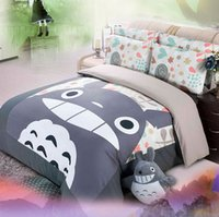 bedding for kids - totoro bedding set cotton comforter cover bed sheet sets for kid children s home decor bed linen