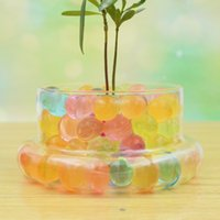 Wholesale chic bonsai Desk Seven Color Crystal Boll Never Fade For Terrariums Office Desk Decor Flower Pots Garden Accessories E426J