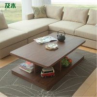 Wholesale Nordic creative rectangular table fashion simple solid wood tea table in living room