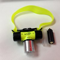 Wholesale Diving headlight Lm CREE T6 LED headlamp Swimming Waterproof Diving Headlamp frontal Head Light Torch