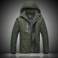 Wholesale Fall Men Down cotton padded winter new men Jackets men increase plus velvet fashion casual detachable cap coat