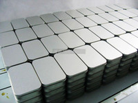 Wholesale Plain silver color tin box rectangle tea candy business card usb storage box case