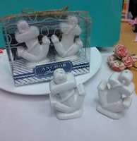 Wholesale Anchors Away Ceramic Salt and Pepper Shakers for Beach Theme Wedding return Gifts for Guest SET