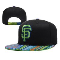 Wholesale Cheap Giants Snapbacks Hot Sale Baseball Caps High Quality Snap Backs Brand Flat Caps Best Quality Sports Hats Green SF Letters on Front