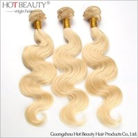 beauty products - New Arrival European Russian Vrgin Hair Body Wave blonde color Human Hair Weave Extensions hot beauty hair product