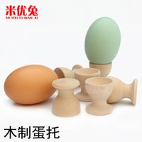 Wholesale Realistic painted egg duck s egg egg tray wooden children s educational toys baby house kitchen