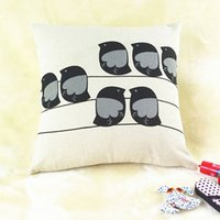 Wholesale Multicolor Pillow Case Animal Printed Cushion Cotton linen Cover Square Throw Cover