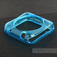 Wholesale Apple Watch Case crystal Clear transparent soft TPU Rubber Cover For Iwatch Apple Watch Sport Edtion mm Wrist Strap Band Smart bracelet