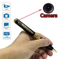 Wholesale Mini Spy Pen Camera Hidden DVR Camcorder pen Video Recorder Silver Gold supports MAX GB Micro sd TF card