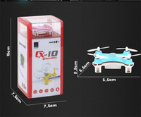 Wholesale Electronic New Cheerson CX CX10 Mini Quadcopter Channel with Axis gyro RC Quadcopter Remote Control Toy with retail box DHL Free