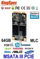 Wholesale Kingspec Mini PCIE MSATA SATA III II SSD GB MLC HDD For Dell M4500 M6400 Acer W500 For HP Envy For IBM S430 Lenovo Y460 V3