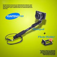 Wholesale 125cm Phone Holder Yunteng Self timer Monopod for SLR Digital Camera Phone Gopro Sport Camera Aluminum Alloy Handheld
