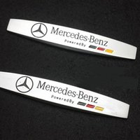 aluminum siding accessories - Exterior Accessories Car Stickers PC Car Body Side Fender Skirts Sticker Badge Emblem For Mercedes Bnz