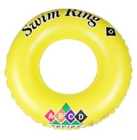 Wholesale High quality Summer Pool swimming ring infloated lifebuoy children And Adult Yellow Color rings swim floating Swimming Gear
