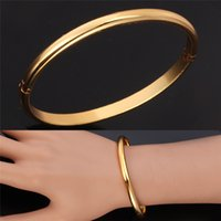 Other jewelry mirror - New Excellent Craft Mirror Polish K Gold Plated Cuff Bracelets Bangles Fashion Jewelry Vogue Gift For Women MGC H5121