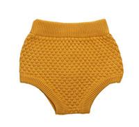 Wholesale New Bobo Choses Baby Ashion Girls Pumpkin Pants High Baby Bloomers Waist Baby Girls Knit Wool Shorts Wild PP Leggings Pants