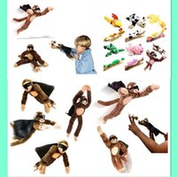 Wholesale New Arrival Monkey Flying Slingshot Flying Plush Chicken Duck Screaming Novelty Fun Toys Kids hot sale