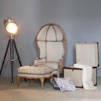 Wholesale European Style living room furniture rural sofa leisure chair high back seat salon chair creative solid wood eggshell chair