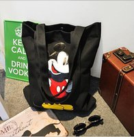 Wholesale New Fashinable Women Drawstring bags Cartoon Canvas women one shouder bags Minnie cartoon drawstring bags LJJD287
