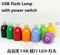 Mini flash de luz Fuente de alimentación Glare Paraje portátil Lámpara USB ligero con el interruptor de alimentación portátil para banco de la energía del ordenador