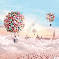 Wholesale 5 FT Custom Air Balloon Background Photography Backdrops Children Heart Fotografia Backgrounds Vinyl Backdrops For Photography