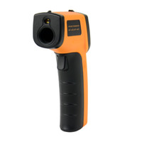 Wholesale 100 Brand New Non Contact LCD IR Infrared Digital Temperature Thermometer Gun Point GM320 ºC to oF A437