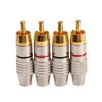Wholesale New RCA Plug Audio Video Locking Cable Connector Plug Titanize Connector