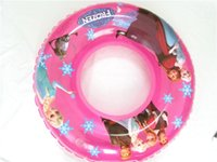 Wholesale Frozen Swim Ring Cartoon Froze Elsa Anna Children Boys Girls Inflatable Underarm Laps Kids Beach Suppliers