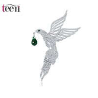 american platinum eagle - Teemi New Unique Design Top Quality Micro Paved Tiny Clear CZ Eagle Shape Animal Brooches for Women Wedding Apparel Pins Jewelry