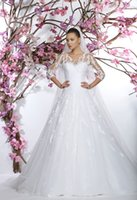 3 4 sleeve plus size wedding dresses - 2015 New Arrival Wedding Dresses With Long Sleeves Sweetheart Scoop Appliques Tulle Custom Aline Wedding Gowns Plus Size Bridal Dresses