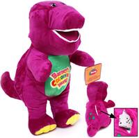 barney songs - 1PC quot cm Musical Purple Dinosaur Barney Plush baby Toy The Dinosaur Sing song Good Toys Doll for children Kids Gift