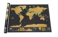 Wholesale 100piece Pieces In Stock Deluxe Scratch Map Deluxe Scratch World Map x cm