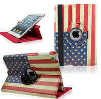 air china uk - 360 Degree Rotaing Magnetic Retro UK USA Flag stand PU leather case for ipad air mini Retina Rotating Case by dhl UPS P317