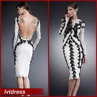 long sleeve below knee cocktail dress « Bella Forte Glass Studio