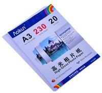 Expreso gratuito A3 (420 * 297 mm) 230g 20 hojas de papel fotográfico de alto brillo impermeable Papel fotográfico Papel tinta, Por una variedad de impresoras de inyección de tinta
