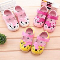 Pattern baby boy white dress shoes - New baby girl shoes Girls PU leather shoes Flash female baby shoes Toddler shoes Square Boys Baby Shoes