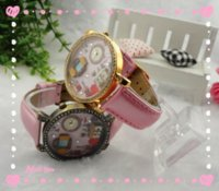Wholesale Popular Fashion Cute warm Japan Polymer Clay Handmade Luxury Crystal children rhinestone Wristwatches furniture D Watch with factory price