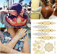 Wholesale 80 Designs Necklace Bracelets tattoo Waterproof Bling Bling Temporary Tattoo Stickers Body Arts Tamporary Tattoos
