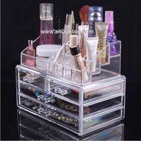 acrylic makeup organizer - 30pcs free fedex Acrylic makeup organizer make up organizer cosmetics plastic drawer makeup jewelry case storage insert holder box mess
