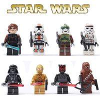 plastic building blocks toys - 2016 Building Blocks STAR WARS Clone WAR Commander Troopers Captain Darth Vader Minifigures Buliding Blocks Toys Assemblage minifigures