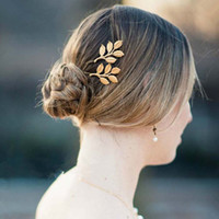 beaded hair clip - Gold Bridal clip Shining Beaded Zinc Alloy Wedding pin Party Wedding hair accessories