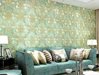 Wholesale Popular d stereo luxury traditional europe style wallpaper Home decor for tv background sofa background non woven wall paper