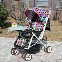 baby push cars - Dual summer and winter stroller lightweight stroller car multifunction commutation easy folding stroller push baby carriages A5