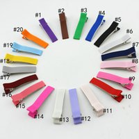 Barrettes & Clips alligator clips - 100pcs a Alligator Hair Clips for Girls Headwear Single Prong Ribbon Grosgrain Hairpins Kids Hair Band Accessories colors