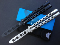 Wholesale butterfly knife Balisong knife Training Knives flail knife Metal steel handle Cr13MoV blade