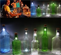 Cup mini wine bottles - Cork Shaped Rechargeable USB LED Night Light Empty Bottle Suck Lamp mini light Power bank light Lamp Wine Bottle Light for party Holiday