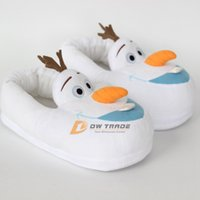 Wholesale 2015 new frozen doll Shoes Home slippers Olaf Warm Plush Stuffed Casual slipper snowman Shoes gift for adult man woman J123101