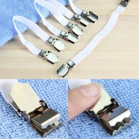 Wholesale High Quality Set Chrome Metal Bed Sheet Fasteners Clip Grippers Mattress Strong Elastic Holder