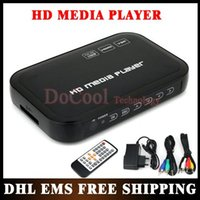 Wholesale 20PCS P Media Player USB External HDD Media Player with HDMI VGA SD Support MKV H RMVB WMV